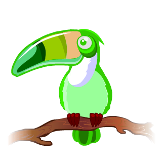 Vegas World's Neon Toucan Charm