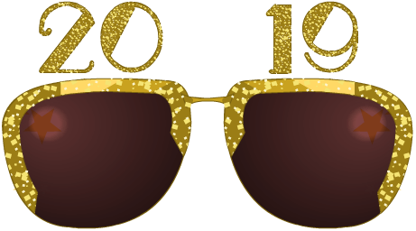 New Year's Happy 2019 Shades - Freebie