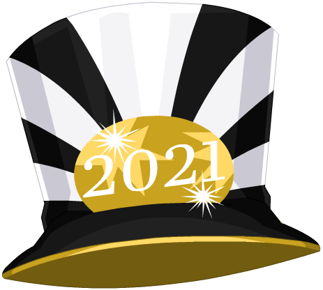 New Year's 2021 Giant Party Hat - Freebie