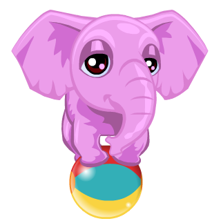Vegas World's Pink Elephant Charm