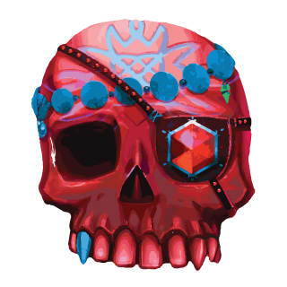 Vegas World's Ruby Skull Charm