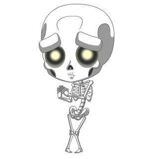 October 2017 Scaredy Skell Charm
